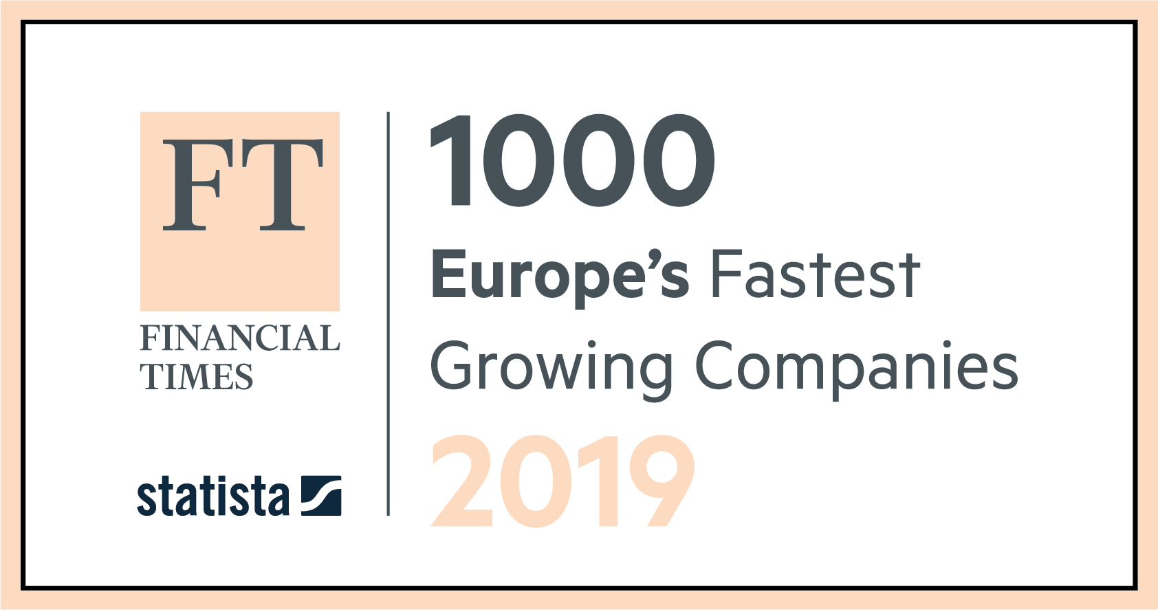 Financial Times Award for Top 1000 fastest growing companies